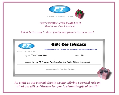 FT Gift Certificate 2010